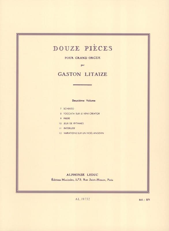 12 Pièces. Volume 2 - Gaston Litaize - Partition - laflutedepan.com