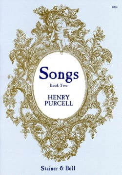 Songs Book 2 PURCELL Partition Mélodies - laflutedepan