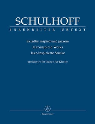 Jazz inspired works Erwin Schulhoff Partition Piano - laflutedepan