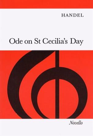 Ode On St Cecilia's Day Hwv 76 HAENDEL Partition Chœur - laflutedepan