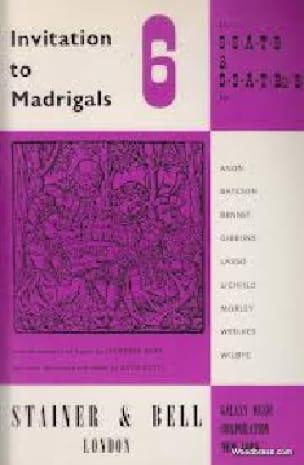Invitation To Madrigals Volume 6 - Partition - laflutedepan.com