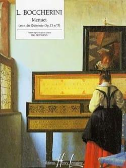 Menuet Opus 13-5 BOCCHERINI Partition Piano - laflutedepan