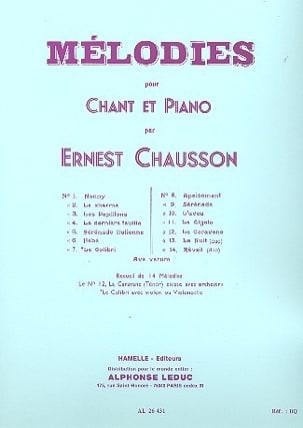 14 Mélodies. CHAUSSON Partition Mélodies - laflutedepan