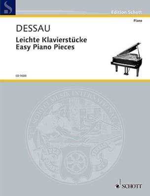 Easy Piano Pieces Paul Dessau Partition Piano - laflutedepan