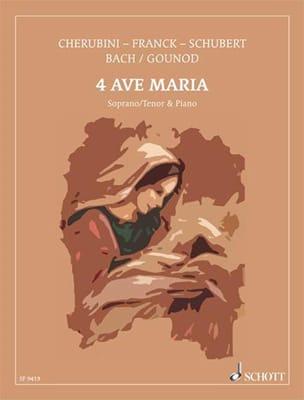 4 Célèbres Ave Maria. Partition Mélodies - laflutedepan