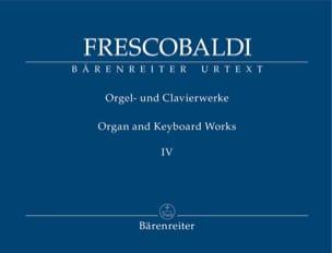 Oeuvres pour Orgue et Clavier. Volume 4 FRESCOBALDI laflutedepan