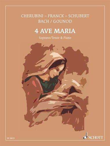 4 Célèbres Ave Maria. - Partition - Mélodies - laflutedepan.com