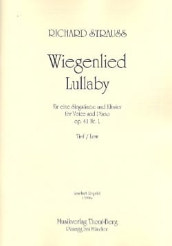 Wiegenlied Opus 41-1. Voix Grave Richard Strauss laflutedepan