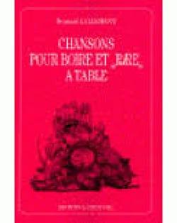 Chansons Pour Boire et Rire A Table Partition Chœur - laflutedepan