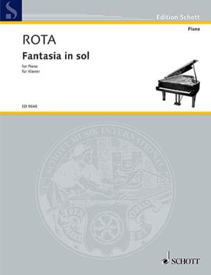 Fantasia In Sol ROTA Partition Piano - laflutedepan