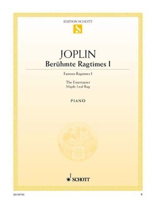Berühmte Ragtimes I JOPLIN Partition Piano - laflutedepan