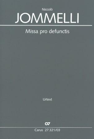 Missa Pro Defunctis Niccolo Jommelli Partition Chœur - laflutedepan