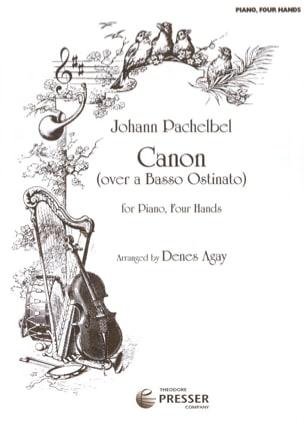 Canon. 4 Mains PACHELBEL Partition Piano - laflutedepan