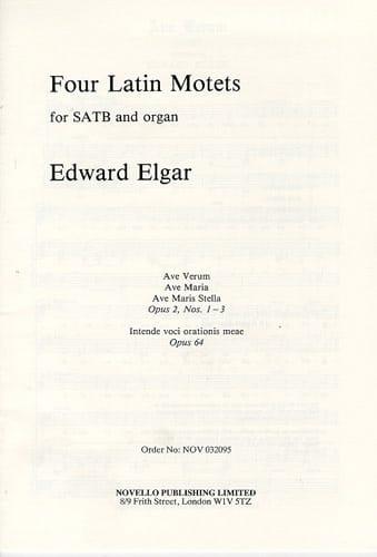 4 Latin Motets Opus 2 et 64 - ELGAR - Partition - laflutedepan.com