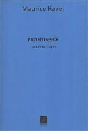 Frontispice. 2 Pianos 5 Mains - RAVEL - Partition - laflutedepan.com