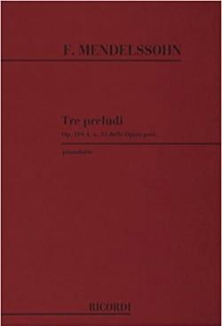3 Preludi Opus 104 MENDELSSOHN Partition Piano - laflutedepan