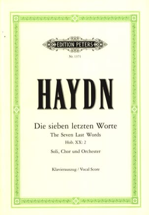 HAYDN - The 7 Last Words Of Christ In Cross Hob 20-2 - Partition - di-arezzo.com