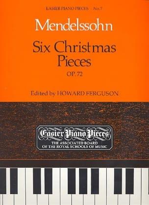 6 Christmas Pieces Op. 72 Félix MENDELSSOHN Partition laflutedepan