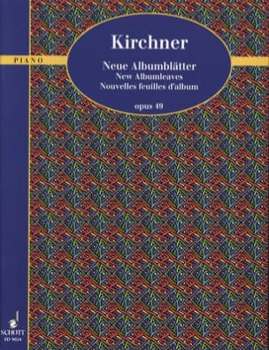 Nouvelles Feuilles D'album Op. 49 Theodor Kirchner laflutedepan