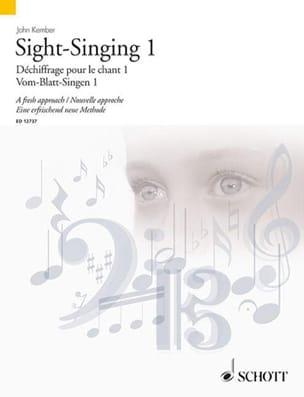 Sight-Singing Volume 1 John Kember Partition Pédagogie - laflutedepan
