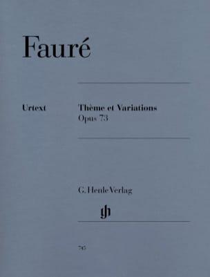 Thème et Variations FAURÉ Partition Piano - laflutedepan