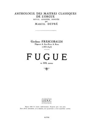 Fugue En Sol Mineur Frescobaldi Girolamo / Dupré Marcel laflutedepan