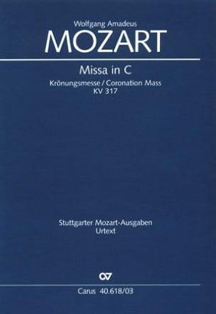Krönungsmesse. KV 317 MOZART Partition Chœur - laflutedepan