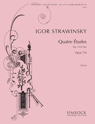 4 Etudes Opus 7-4 STRAVINSKY Partition Piano - laflutedepan
