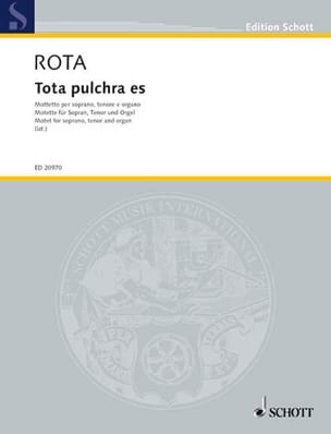Tota Pulchra Es ROTA Partition Duos - laflutedepan
