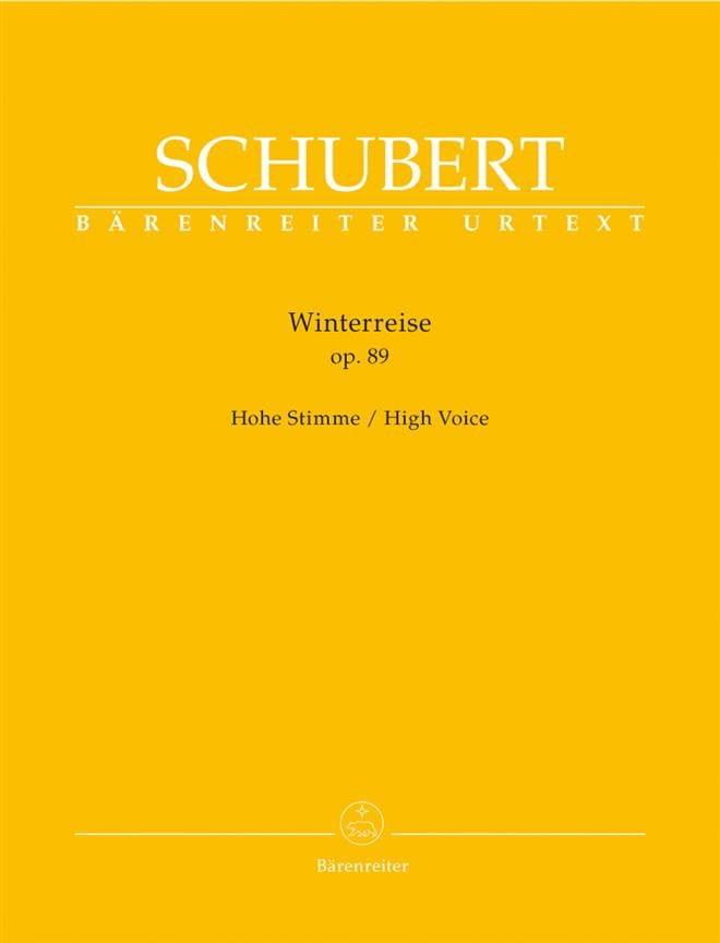 Winterreise Opus 89 D 911. Voix Haute - SCHUBERT - laflutedepan.com