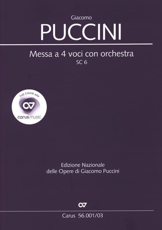 Messa a 4 voci con orchestra SC 6 - PUCCINI - laflutedepan.com
