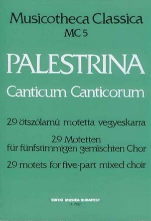 Canticum Canticorum PALESTRINA Partition Chœur - laflutedepan