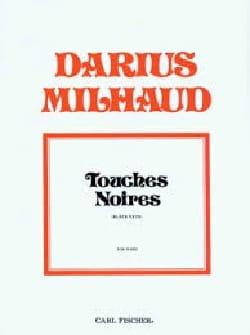 Touches Noires MILHAUD Partition Piano - laflutedepan