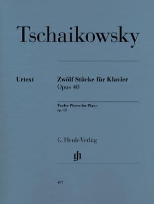 12 Pièces Opus 40 TCHAIKOVSKY Partition Piano - laflutedepan