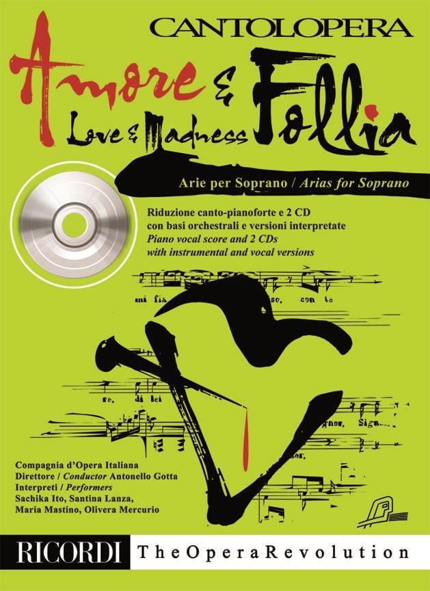 Amore E Follia avec 2 CD - Partition - Recueils - laflutedepan.com