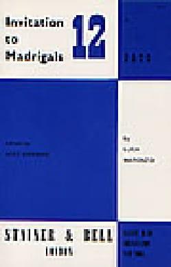 Invitation To Madrigals Volume 12 - Luca Marenzio - laflutedepan.com