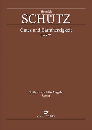 Gutes und Barmherzigkeit SWV 95 SCHUTZ Partition Chœur - laflutedepan