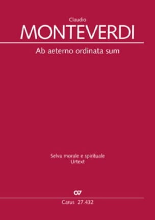 Ab aeterno ordinata sum SV 262 - MONTEVERDI - laflutedepan.com