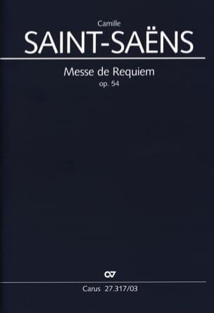 Requiem op. 54 SAINT-SAËNS Partition Chœur - laflutedepan