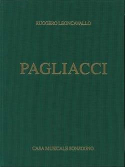 Pagliacci Ruggiero Leoncavallo Partition Opéras - laflutedepan