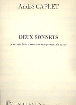 2 Sonnets André Caplet Partition Harpe - laflutedepan