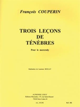 3 Leçons de Ténèbres Pour le Mercredi. - COUPERIN - laflutedepan.com