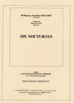 6 Nocturnes MOZART Partition Chœur - laflutedepan