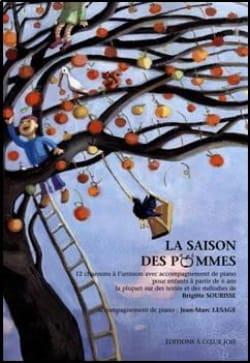 La Saison des Pommes Brigitte Sourisse Partition Chœur - laflutedepan