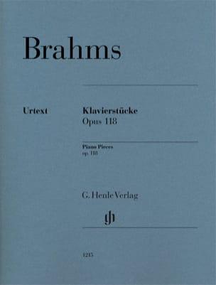 Klavierstücke Opus 118 BRAHMS Partition Piano - laflutedepan