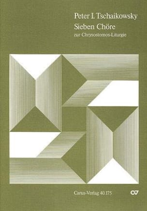 Chrysostomos-Liturgie I Opus 41 TCHAIKOVSKY Partition laflutedepan