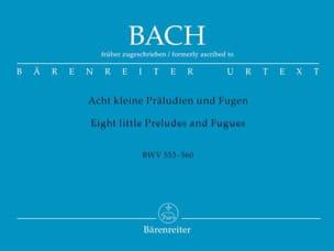 8 Petits Préludes et Fugues BWV 553-560 - BACH - laflutedepan.com