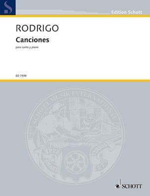 Canciones 1934-64 RODRIGO Partition Mélodies - laflutedepan