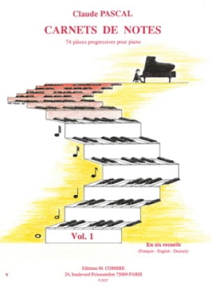 Carnets De Notes - Volume 1 - Claude Pascal - laflutedepan.com