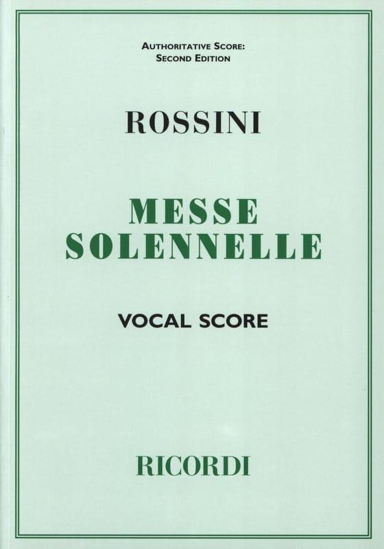 Petite Messe Solennelle - ROSSINI - Partition - laflutedepan.com